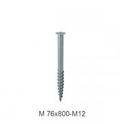 M-76X800-M12 sraigtinis pamatas